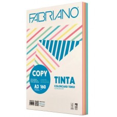 FABRIANO COPY TINTA A3 160GR. CARTONCINO 5 COLORI TENUI 100 FOGLI