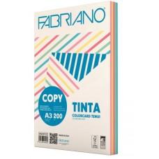 FABRIANO COPY TINTA A3 200GR. CARTONCINO 5 COLORI TENUI 100 FOGLI