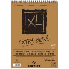 CANSON ALBUM XL EXTRA BIANCO A3 SPIRALATO 120FF 90GR.