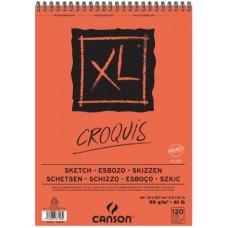CANSON ALBUM XL SCHIZZO A4 CROQUIS SPIRALATO 120FF 90GR.