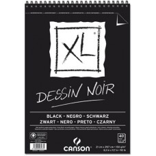 CANSON ALBUM XL NERO A4 40FF 150GR. DESSIN NOIR SPIRALE