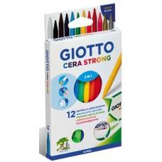FILA GIOTTO CERA STRONG ASTUCCIO 12 PASTELLI