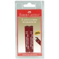 FABER CASTE  ASTUCCIO 12 MINE HB 0,5 BLISTER 2 ASTUCCI