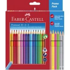 FABER CASTELL PROMO PACK PASTELLI GRIP COLOUR ASTUCCIO CARTONE
