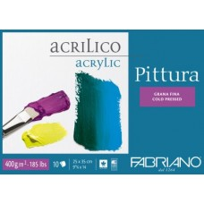 FABRIANO PITTURA BLOCCO COLLATO 25*35 GRANA FINA 10FF 400GR