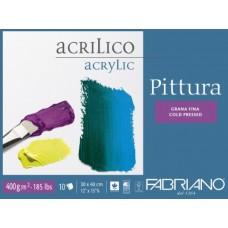 FABRIANO PITTURA BLOCCO COLLATO 30*40 GRANA FINA 10FF 400GR