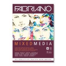 FABRIANO MIXED MEDIA BLOCCO A3 GRANA NATURALE 40FF. 250 GR
