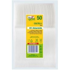 COLTELLI GREEN COMPOSTABILE BIO CF.50