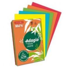 REY ADAGIO A4 80GR 500FF BANANA FLUO
