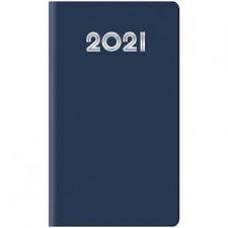 AGENDA 2021 SETTIMANALE TASCABILE 8X14 GOMMATO BLU