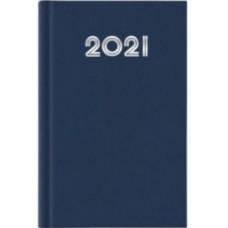 AGENDA 2021 GIORNALIERA 21X29.7 A4 GOMMATO BLU