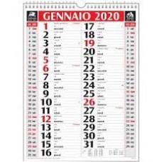 CALENDARIO DA MURO 2020 OLANDESE SPIRALATO ROSSO/NERO 28,8*39