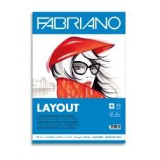 FABRIANO BLOCCO LAYOUT A4 LISCIO BARRIERATA 70FF 75GR