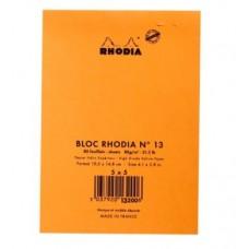 RHODIA BLOCCO NOTE N.13 A6 10.5*14.8CM 5MM 80GR CONF.10