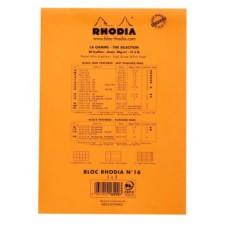 RHODIA BLOCCO NOTE N.16 A5 14.8*21CM 5MM 80GR CONF.10
