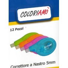 COLORIAMO' CORRETTORE A NASTRO 5MM*8M CONF.12 PEZZI