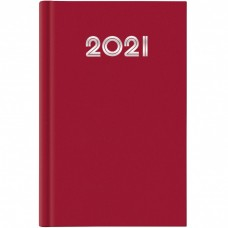 AGENDA 2021 GIORNALIERA 14.5X20.5 S/D SEPARATI GOMMATO ROSSO