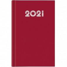 AGENDA 2021 GIORNALIERA 21X29.7 A4 GOMMATO ROSSO