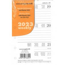RICAMBIO AGENDA SETTIMANALE 2021 CON PLANNER 14.5X21 (A5)