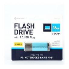 PLATINET FLASH DRIVE CHIAVETTA USB 2.0 16GB BLU