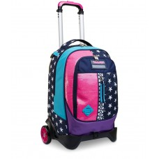TROLLEY STACCABILE JACK SEVEN 2 RUOTE PINKING BLUE