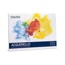 FAVINI ACQUERELLO FOGLI DA DISEGNO 10 FOGLI 35X50 GR. 340