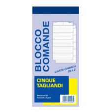 COMANDE A 5 TAGLIANDI 2C. BLISTER 5 BLOCCHI