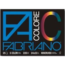 FABRIANO F4 COLORE 24X33 MONORUVIDO 5 COLORI